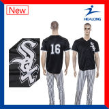 Terno cheio de Jersey do basebol do Mens do Sublimation da venda por atacado do Sportswear de Healong