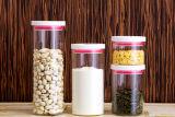 Alto vaso di memoria dell'alimento di vetro di Borosilicate