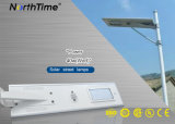 Alle-in-één LEIDENE Straatlantaarns van het Zonnepaneel met IES van Ce RoHS van de Sensor IP65 3 Jaar van de Garantie