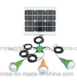 ホーム照明のための小型携帯用太陽エネルギーLED軽いキット18Vの太陽エネルギーシステム