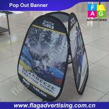 La piegatura verticale di pubblicità trasportata facile della fabbrica della Cina schiocca in su il basamento della bandiera