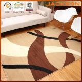 5 x 8 pies de Brown y manta de área ondulada moderna contemporánea amarillenta de los círculos