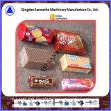 Empaquetadora de embalaje excesiva automática de la oblea de la galleta (bandeja-libre)