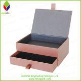 Elegante rígido plegable de cartón caja de cosméticos