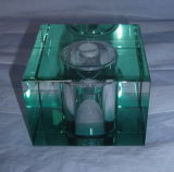 Cristal azul, vidro quadrado, vidro verde