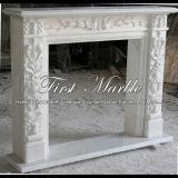 Marmeren Open haard mfp-142 van Carrara van de Open haard van het Graniet van de Open haard van de Steen van de Open haard Witte