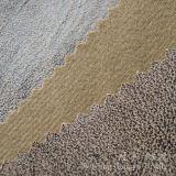 Poliestere 100% del tessuto del cuoio della pelle scamosciata bronzato stampa della stagnola per il sofà