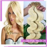 Blond 100 Keratin Tipped Extensão do cabelo humano