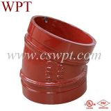 UL&FM를 가진 연성이 있는 Cast Iron Grooved Fittings 90 Degree Elbow