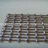 Гофрированная квадратная декоративная голландская сетка волнистой проволки нержавеющей стали