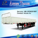 側面のWall Open 3 Axles 40t Flatbed Special Vehicle Semi Trailer Truck (LAT9380T)