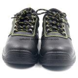 Zapatos de trabajo de acero baratos de la seguridad de la punta del cuero genuino
