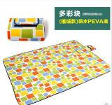 사각 Microfiber 도매 다채로운 PEVA Pincnic 담요