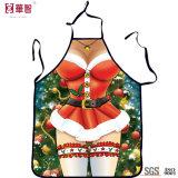 Avental impresso personalizado da cozinha do Natal