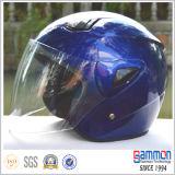 De de goedkope Zilveren Open Motorfiets van het Gezicht/Helm van de Autoped (OP202)
