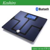 Escala de gordura pesada do corpo humano Bluetooth com a aplicação gratuita