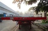 3 Aanhangwagen van de Straal van de Opschorting van de Lucht van assen de Rode Rechte Flatbed Semi