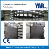 Porte de garage d'unité centrale de prix usine et chaîne de production de plaque de réfrigérateur