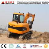 excavatrice hydraulique de la position 0.42m3 excavatrice de chenille de 9 tonnes