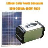 Central eléctrica portátil solar de pouco peso 360wh do gerador psto