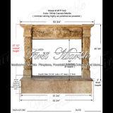Marmeren Rand mfp-543 van de Open haard van Carrara van het Graniet van de Steen Witte