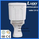 Côté vidant en deux pièces de l'eau de lavage à grande eau de comité d'entreprise européen d'articles sanitaires/courroie 220mm de densité dedans
