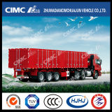 Cimc Huajun Standard 3axle Van/Carbone-Carrying Semi Trailer di Box