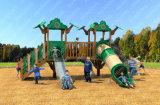 Campo de jogos engraçado de madeira ao ar livre das crianças do campo de jogos pré-escolar atrativo comercial popular do Sell da fábrica
