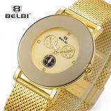 Reloj grande ultrafino de las mujeres del diseño del Pin de los ojos seises de la falsificación tres de la dial del acero inoxidable de Belbi