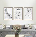 Moderner abstrakte Kunst-Farbanstrich mit hölzernem Rahmen für Wand-Dekor