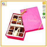 Rectángulo de regalo al por mayor del chocolate del divisor del papel de la insignia del oro
