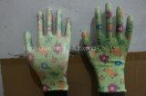 Garten-Sicherheits-Arbeits-Nitril-Handschuhe des Polyester-13G mit Cer