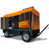 Compresor de aire móvil portable del motor diesel de 4 ruedas