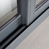Neuer Entwurfs-Puder-überzogener gerundeter Verschluss-schiebendes Aluminiumfenster Kz103