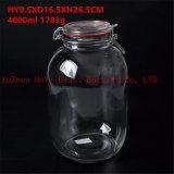 4L 유리제 음식 단지 밀봉 유리 콘테이너