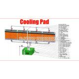 Almofada 6090 refrigerando verde usada para a oficina industrial