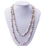 Arroz de Snh 8m m una joyería larga del collar de la perla del grado para las mujeres