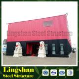 Alameda de compras prefabricada de la estructura de acero de la ISO (LS-SS-602)