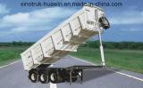 Auto-Dumping Semi Trailer de Sinotruk 3-Axle Hyva Tipper