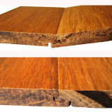Suelo de bambú carbonizado tejido hilo