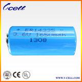 batería de litio del tamaño Er14335 de 3.6V 1650mAh 2/3AA, batería del cloruro de tionil del litio 3.6V