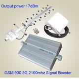 L'amplificateur de téléphone cellulaire de répéteur de signal de /3G de servocommande de signal du téléphone mobile 3G 2100MHz de GM/M WCDMA 900 avec Antennadiscount libèrent l'inspection