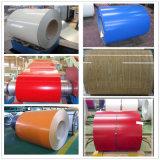 el color del material de construcción de 0.49*1250m m cubierto galvanizó la bobina de acero