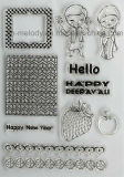 Cute Clear Stamp para Scrapbook / Papercrafts / Proyectos de bricolaje