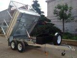 Galvanisiertes 10X5 Tandem 3 Ton Hydraulic Tipper Tipping Plant Box Trailer u. Cage