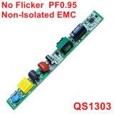6-20W EMC QS1303를 가진 아무 흔들림 PF0.95 비고립 램프 운전사없음도