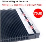 Impulsionador móvel do sinal de Triband G/M 900 1800MHz 3G 2100MHz 2g 3G 4G dos impulsionadores do sinal das redes múltiplas