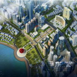 鳥瞰的な眺めのレンダリングVisualization&#160を計画している市庁;
