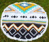 円形の綿のビーチタオル