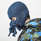 Chapéu feito malha de confeção de malhas Handmade do inverno da máscara original do polvo